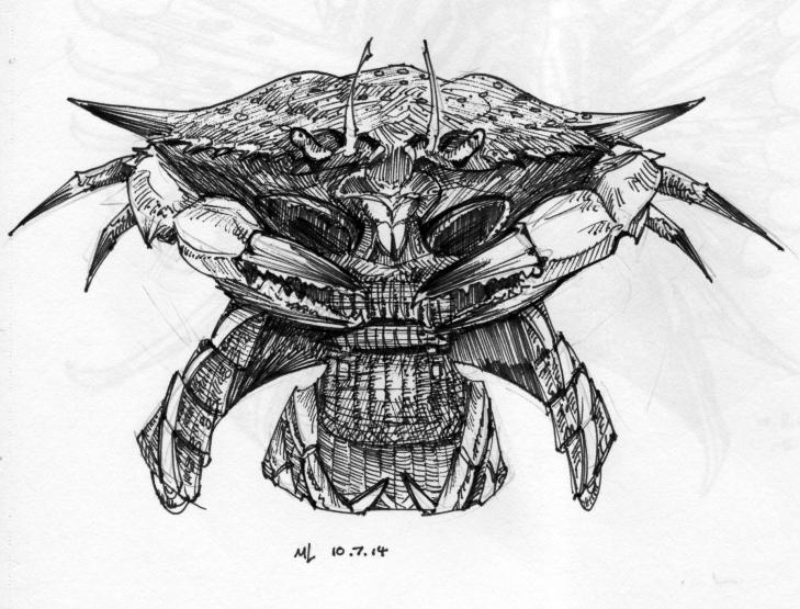 kabuto, blue crab